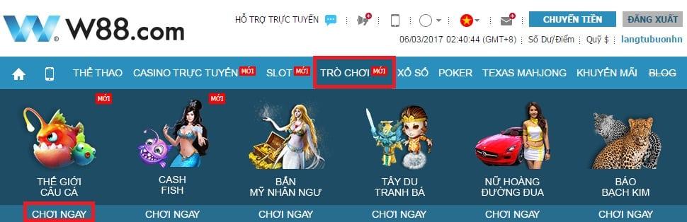 Hinh 1 game ban ca tai w88