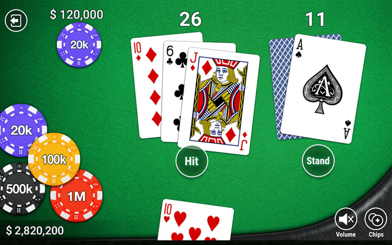Chiến thuật 2:Dừng rút bài khi tổng điểm 2 lá bài đầu tiên từ 18 – 20 điểm