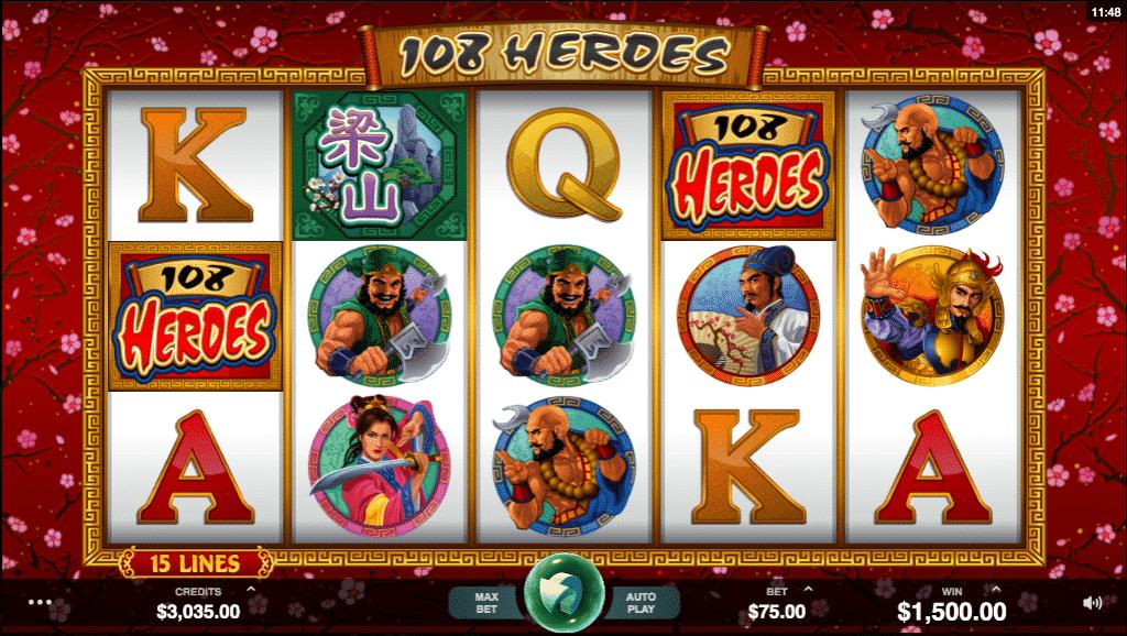 Chơi 108 anh hùng trên máy đánh bạc - Thú vị và hấp dẫn!